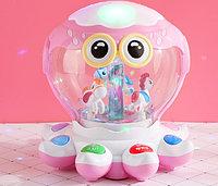 Развивающая медуза для деток 1803 розовый