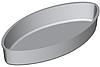 Форма для хлеба овал (260 х 125 х 48 мм)