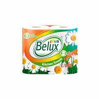 Бумажные полотенца «Belux PLUS», 2 слоя, 2 рулона, 12,5 м, белые с рисунком
