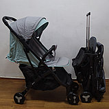 Прогулочная коляска Mstar (Baby Grace) Серый/бирюза, фото 3