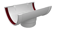 Воронка желоба 120x85 мм Белый Grand Line