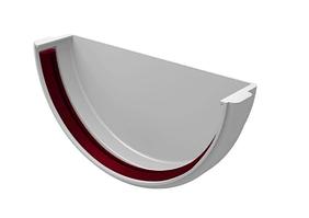 Заглушка желоба 120x85 мм Белый Grand Line