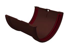 Соединитель желоба 120x87 мм Коричневый Grand Line