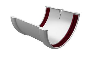 Соединитель желоба 120x87 мм Белый Grand Line