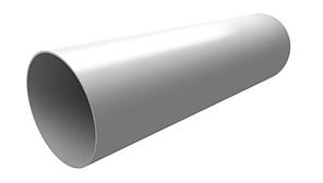 Труба водосточная 85x3000 мм Белый Grand Line