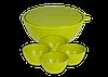Набор салатников Bono 0,6 л (4 шт) + 5 л с крышкой
