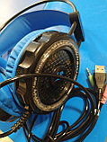 Стильная игровая гарнитура с подсветкой H7 Алматы, фото 3