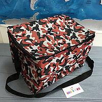 Термо сумка камуфляж в красном цвете