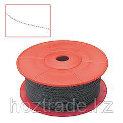 Проволока для опломбирования двужильная, стальная, витая, диаметр 0,65 мм, 100 м