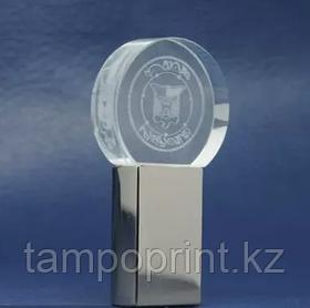 Флешка стекло 2 гб (круглая)