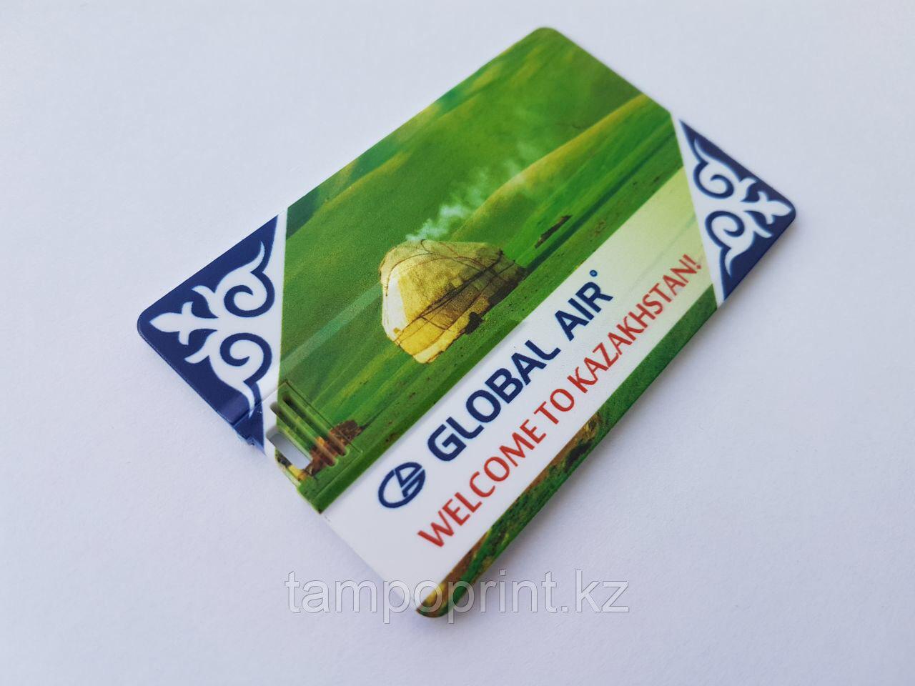 Флешка кредитка 2 гб. Бесплатная доставка по Казахстану.