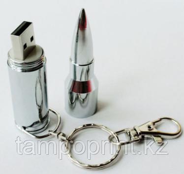 Флешка Пуля 7,62мм серебряная 16 гб