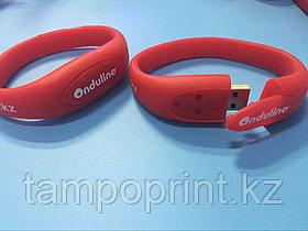 USB Флешка браслет 4 гб. Бесплатное брендирование. Бесплатная доставка по РК.