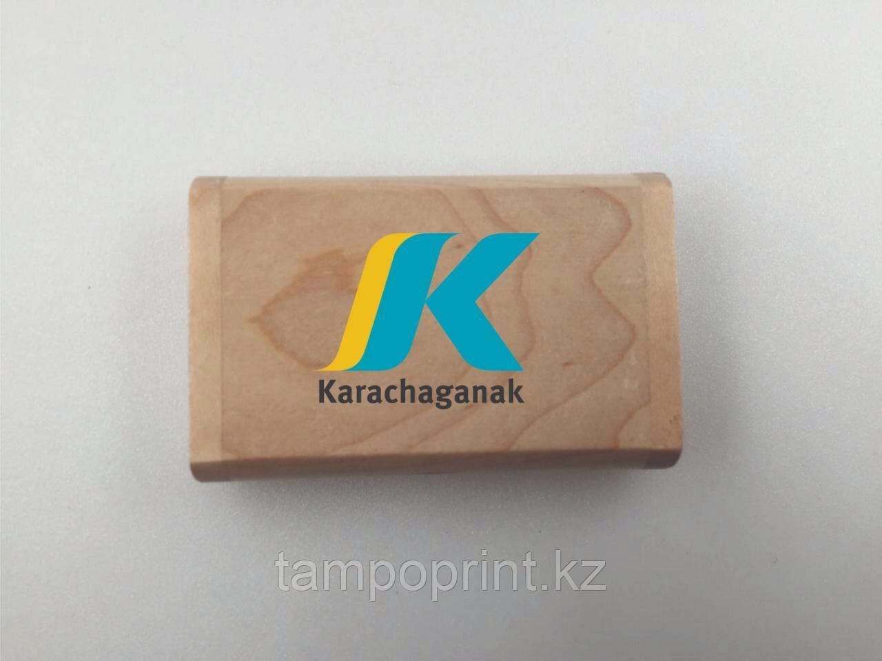Деревянная флешка 2 гб. Бесплатная доставка по РК.