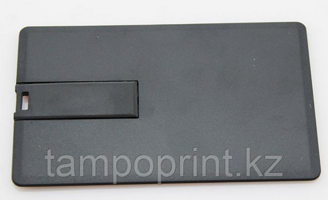 Флешка визитка черная 32 гб без нанесения. Бесплатная доставка по Казахстану.