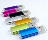 Флешка фиолетовая перламутовая под нанесение 2 гб. Бесплатная доставка по РК., фото 3