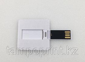 Флешка квадрат (4см*4см) 2, 4, 8, 16, 32, 64 гб. Бесплатная доставка по РК.
