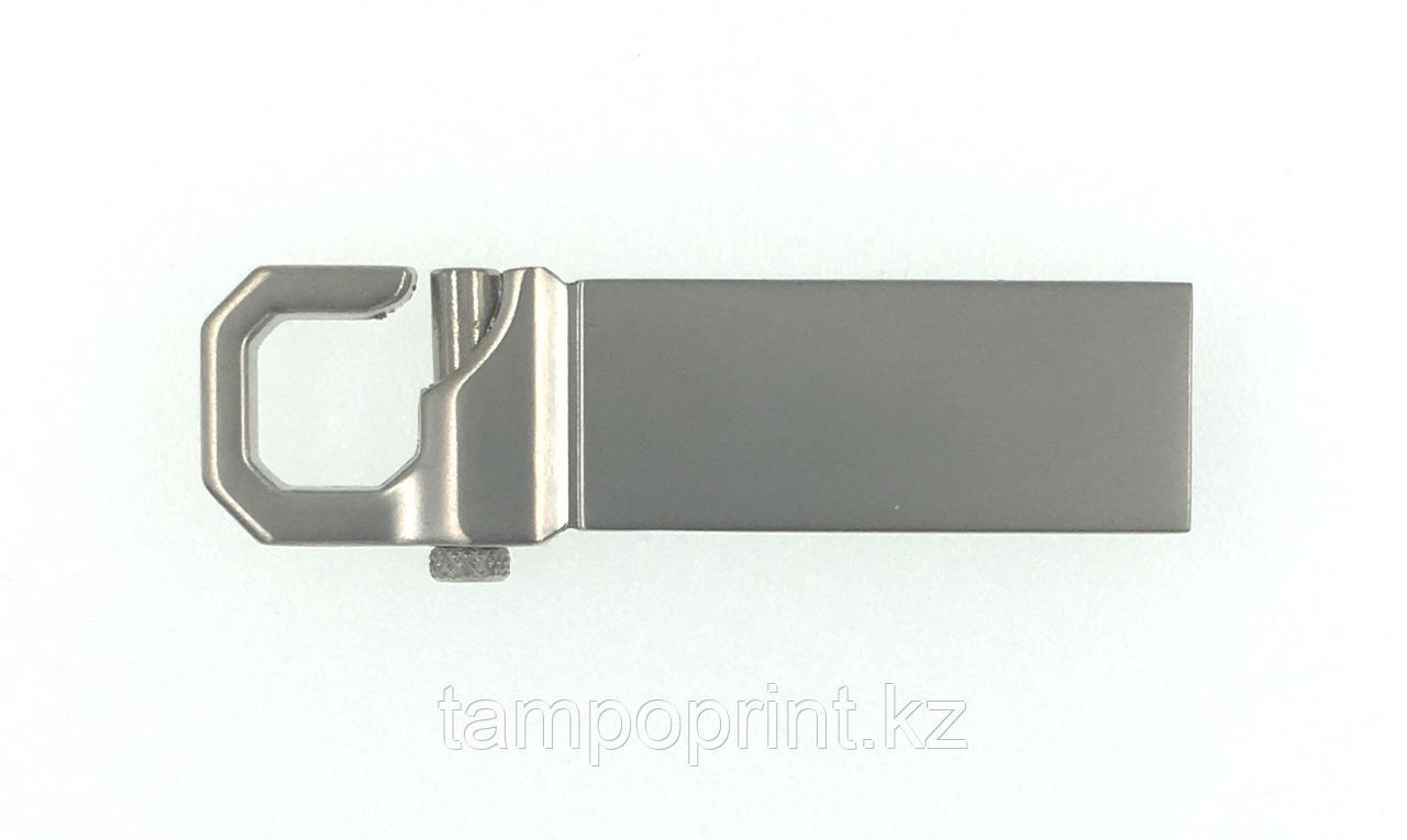 Металлическая флешка (карабин) под гравировку 64 гб