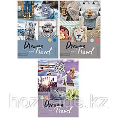 "Тетрадь 80л., А4, клетка ArtSpace ""Стиль. Dreams and travel"", ВД-лак"