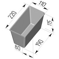 Форма для хлеба  №7  (220х110х115 мм)
