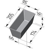 Форма для хлеба №10-2 (205х95х95мм)
