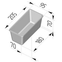 Форма для хлеба №10-4 (205х95х75мм)