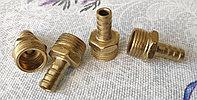 Переходник резьбовой папа 1\2 на елочку 10мм (металл) для гибких шлангов и т.д.