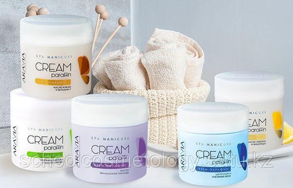 Крем-парафин «Натуральный» c молочными протеинами и маслом хлопка.«ARAVIA Professional» - фото 2