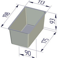 Форма для хлеба Тостерная (200 х 100 х 90 мм)