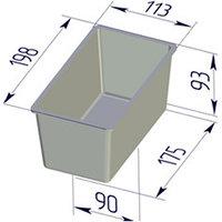 Форма для хлеба Тостерная (198 х 113 х 93 мм )