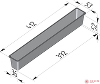 Форма для хлеба Тостерная (410 х 50 х 55 мм )