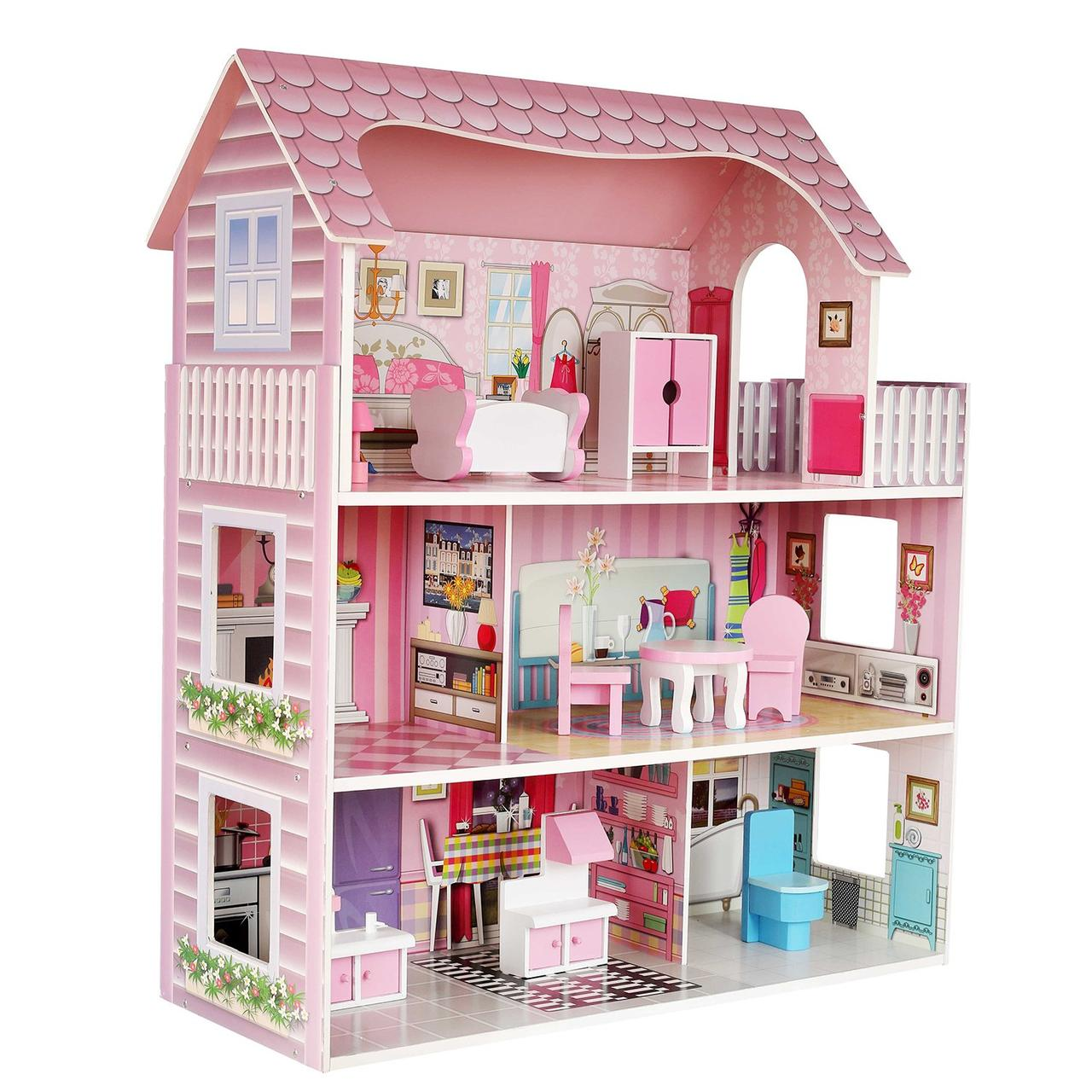 Дом для кукол Demi Star с аксессуарами 9 шт.