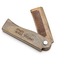 Расческа бабочка для бороды и волос из сандалового дерева Unique Man