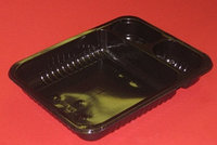 """Контейнер черный под запайку ПП 228х178х36мм 3секции """"Т-образный"""" 95/ 95/800 мл"""