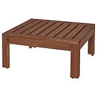 Стол/табурет ЭПЛАРО коричневая морилка 63x63 см ИКЕА, IKEA, фото 1