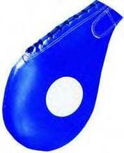 Ракетка для таеквондо TR-8004, натуральная кожа, синяя