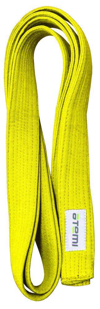 Пояс для кимоно ATEMI, 280 см, желтый