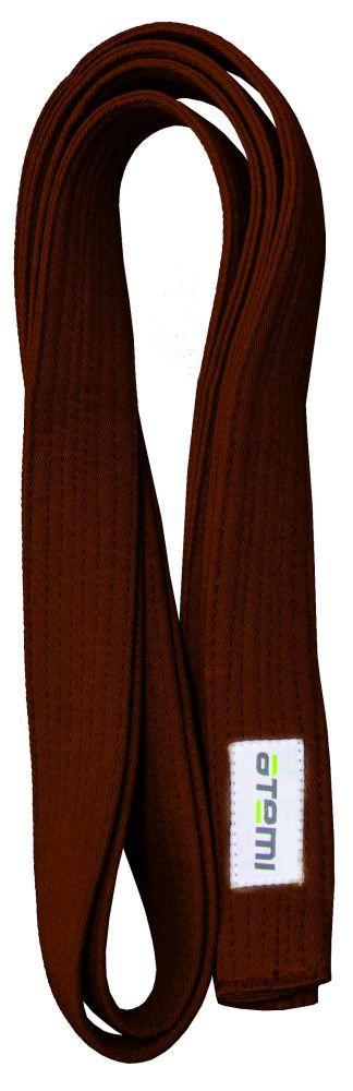 Пояс для кимоно ATEMI, 280 см, коричневый