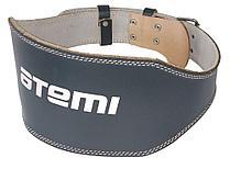 Пояс тяжелоателтический Atemi, AFB04L, кожа, 15 см, размер L