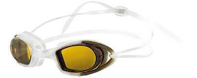 Очки для плавания Atemi, силикон (бел/оранж), N9101M