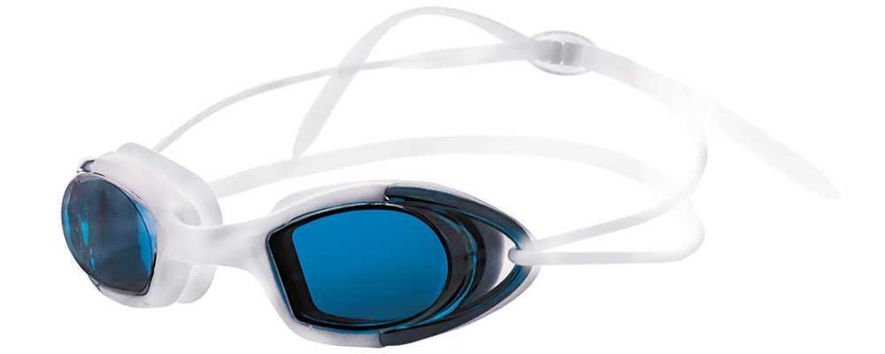 Очки для плавания Atemi, силикон (бел/син), N9102M