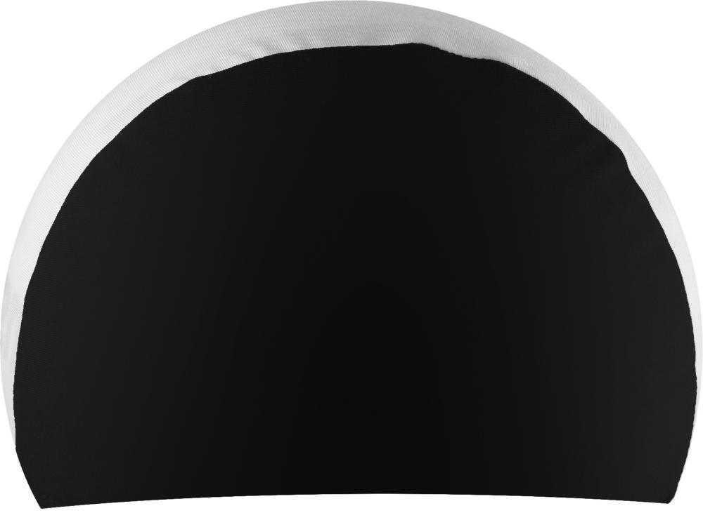 Шапочка для плавания NOVUS, полиэстер, чёрн/бел, NPC-21
