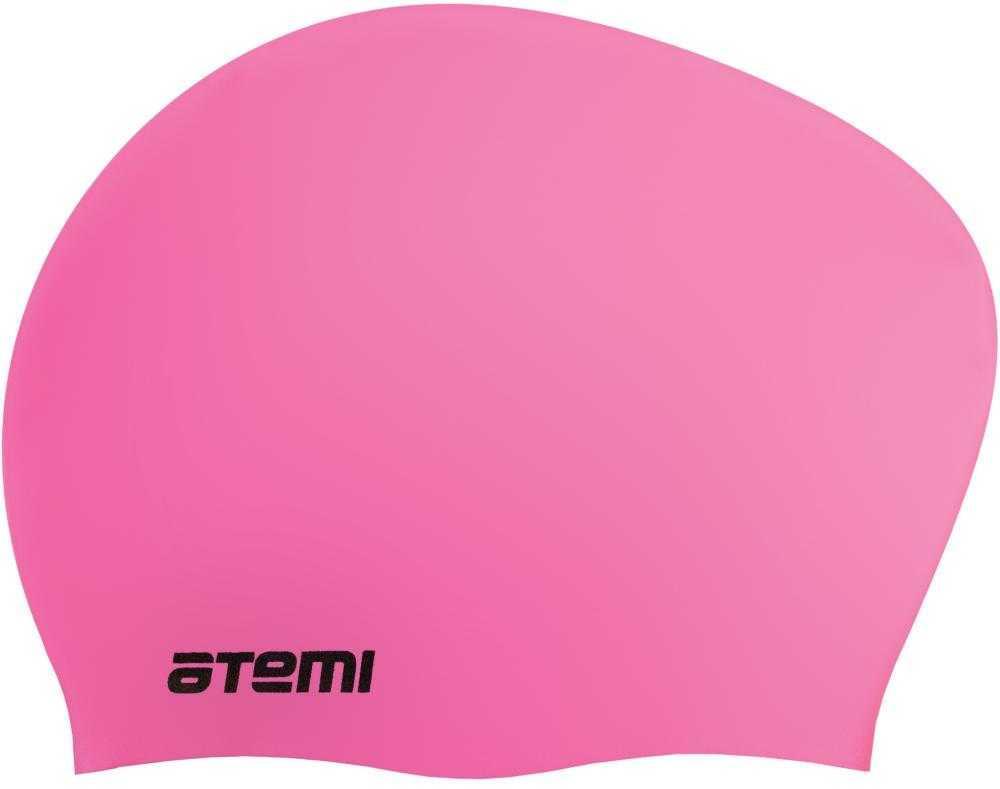 Шапочка для плавания ATEMI, силикон, д/длин.волос, роз, LC-04