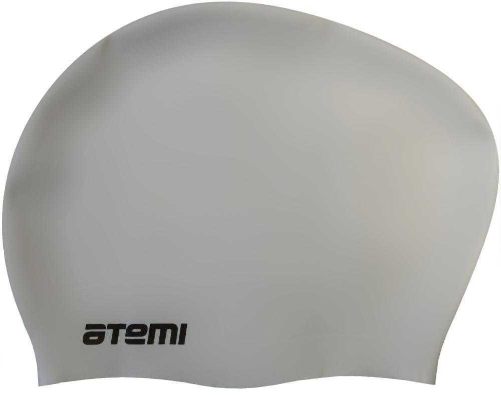 Шапочка для плавания ATEMI, силикон, д/длин.волос, сер, LC-05
