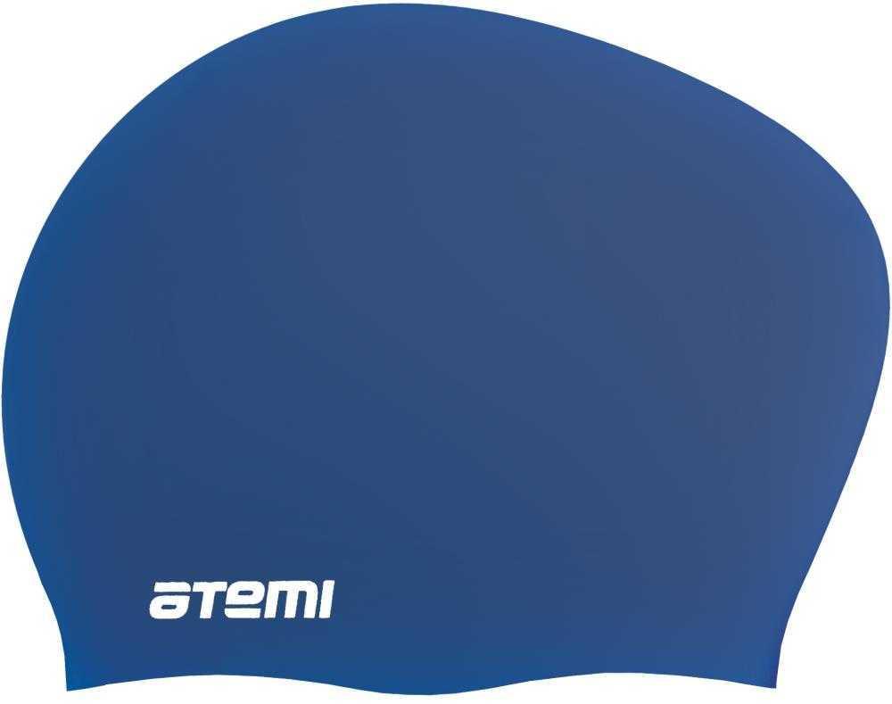 Шапочка для плавания ATEMI, силикон, д/длин.волос, син, LC-06