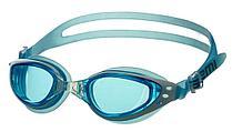 Очки для плавания Atemi, силикон (гол/бел), B201