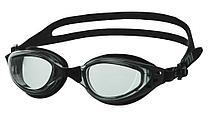 Очки для плавания Atemi, силикон (чёрн/сер), B202
