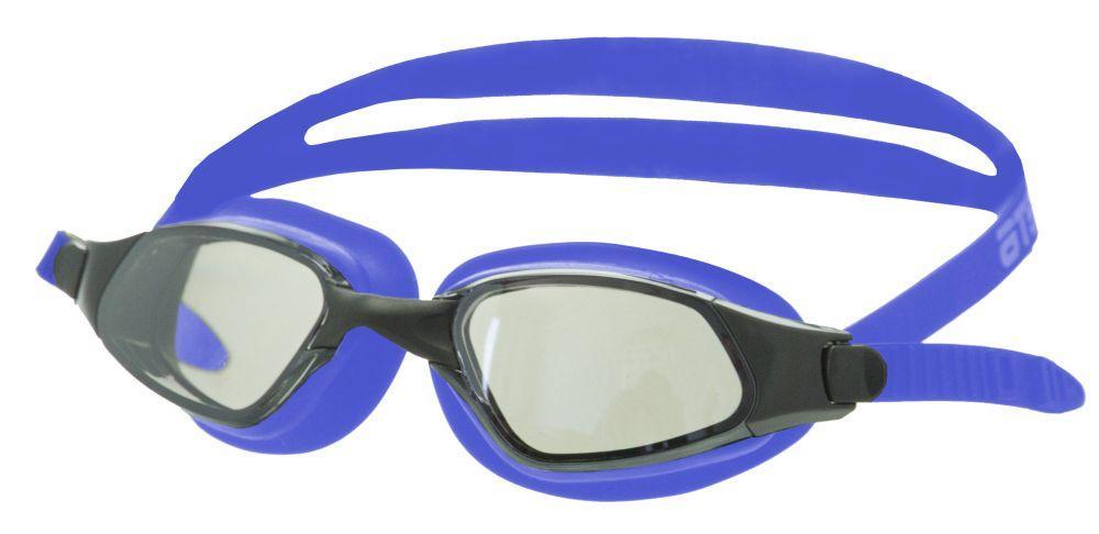 Очки для плавания Atemi, зерк., силикон (син), B301M