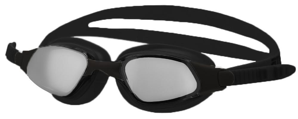 Очки для плавания Atemi, зерк., силикон (чёрн), B302M