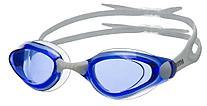 Очки для плавания Atemi, силикон (бел/син), B401